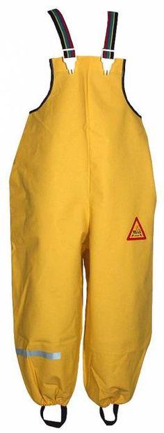 TELLS Regenhose Buddelhose Ökotex100  - Farbe gelb - Bild vergrößern