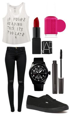 """""""Untitled #20"""" by shamya2003 ❤ liked on Polyvore featuring Wet Seal, J Brand, Vans, Laura Mercier and Essie"""