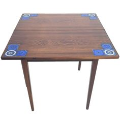 Danish Rosewood Flip Top Game Table For Illums Bohligus