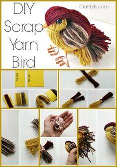 Scrap yarn craft wool bird, Use scraps to make bird project ,kids pom pom craft animal. gift ideas Scrap yarn craft wool bird, Use scraps to make bird project ,kids pom pom craft animal. Bird Crafts, Cute Crafts, Flower Crafts, Creative Crafts, Yarn Crafts Kids, Crafts With Yarn, Fabric Crafts, Easy Crafts, Easy Diy