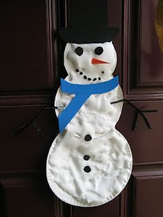homemade puffy paint snowman and other simple winter craft ideas