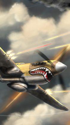 Wallpaper Ww2 Aircraft, Fighter Aircraft, Military Aircraft, Fighter Jets, Aircraft Painting, Air Festival, Ww2 Planes, Nose Art, Pin Up