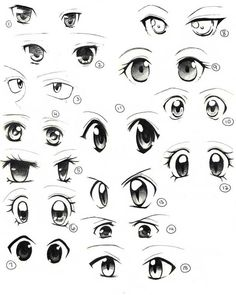 ✔ Anime Eyes Looking Down Drawing Easy Anime Eyes, How To Draw Anime Eyes, Manga Eyes, Eye On Anime, Easy Eyes To Draw, Manga Anime, Manga Drawing Tutorials, Cartoon Drawing Tutorial, Anime Drawings Sketches