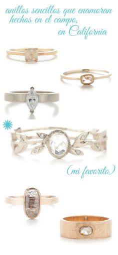anillos de pedida sencillos aire rústico dawes design