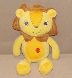 "Kellytoy Yellow Orange Lion Plush Stuffed Animal Brown Mane Red Dot 12"" Toy 5003 #KellyToy"