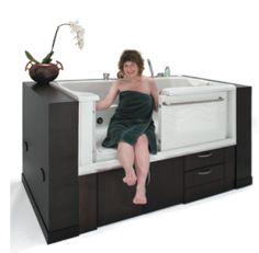 Accessible Bathtubs: An Amazing Diversity! Walk In Tubs, Walk In Bathtub, Handicap Bathtub, Bathroom Interior Design, Bathroom Designs, Bathroom Ideas, Shower Sizes, Spa Tub, Shower Tub
