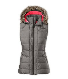 The North Face Women's Gotham Down Hooded Vest, Graphite ... http://a.co/dcxbsyx