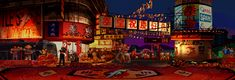 Fighting game backgrounds, animated