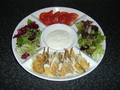 Smoked mackerel salad platter for making tortilla wraps - delicious, nutritious, sustainable, easy to make and inexpensive. A win every way meal creation.