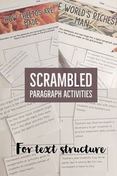5 fun passages to re-arrange correctly with the help of transition words. Fun for struggling readers and writers!