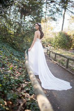 Sarah Jassier for Angelique Bridal gown back view
