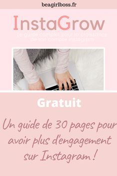 Dans ce guide gratuit de 30 pages je te donne toutes mes astuces pour développer ton compte Instagram et aussi une checklist pour augmenter ta visibilité #instagram #insta #marketinginstagram #developpetoncompteinsta #visibilitéinstagram #girlboss #instagirlboss Guide, Engagement, Motivation, Business, Tips, Organization, Engagements, Store, Business Illustration