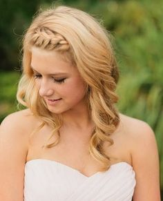 bridesmaid hairstyle medium length hair - Google Search