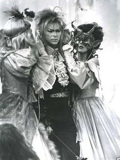 Labyrinth.... This movie has the wonderful David Bowie as the Goblin King. I could've done without all of the muppets, but his singing was hauntingly beautiful which made it worth the watch.