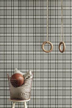 En non-woven tapet. Rullängd m, 53 cm bred. Made in Sweden Decoration, Louis Vuitton Damier, Monogram, Textiles, Wallpaper, Pattern, Design, Walls, Home Decor