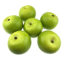 Gresorth 6pcs Lifelike Artificial Green Apple Faux Fake Apples Fruit Home House Kitchen Cabinet Decor ** Read more  at the image link.