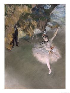 Edgar Degas - The Star, or Dancer on the Stage, circa 1876-77