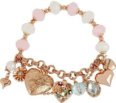 Betsey Johnson Blue Heart Stretch Bracelet