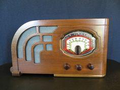 Vintage 1930s Old Art Deco Antique Sonora Radio Play or Display Wood Cabinet | eBay
