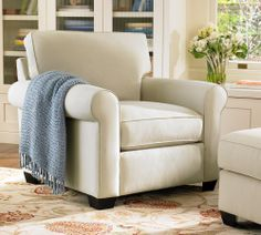 creamy comfy chair from pottery barn