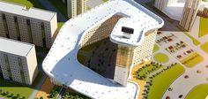 Des buildings avec pistes de ski au Kazakhstan !