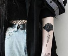 grunge, tattoo, and black image Trendy Tattoos, Black Tattoos, Body Art Tattoos, Sleeve Tattoos, Tatoos, Grunge Tattoo, Tattoo Mama, Tattoo Schwarz, Aesthetic Tattoo
