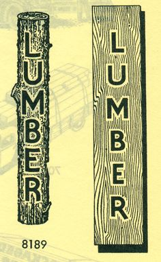 """LUMBER! From the official """"Selected Art for the Yellow Pages"""", ca. 1940"""