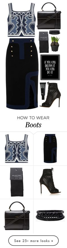 """""""Untitled #2319"""" by liliblue on Polyvore featuring Peter Pilotto, Gianvito Rossi, Yves Saint Laurent, Americanflat, Make, Spring Street, SELECTED, women's clothing, women and female"""