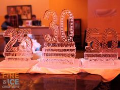This ice sculpture was made for a clients birthday, anniversary and business anniversary.     To see more of our work, check out our website fireandicecreations.ca