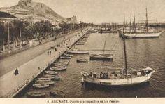 Alicante online . net - Historia de Alicante | Fotografias antiguas de la ciudad Alicante, Paris Skyline, Images, Boat, Travel, Town Hall, Old Photography, Antique Photos, Earth