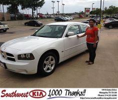 Thank you to Kevin & Parker on the 2013 new car  from Harold Bennett and everyone at Southwest Kia Mesquite!