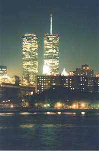 World Trade Center at Night looking all pretty in lights