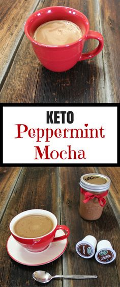 stevia instead of syrup Keto Peppermint Mocha coffee creamer recipe. Finally, a clean Peppermint Mocha Recipe! This coffee creamer recipe is Paleo and Vegan with low carb, keto, whole sugar detox, and light options given! Mocha Coffee Creamer Recipe, Mocha Recipe, Low Carb Coffee Creamer, Low Carb Drinks, Low Carb Dessert, Cheese Dessert, Diet Drinks, Healthy Drinks, Alcoholic Drinks