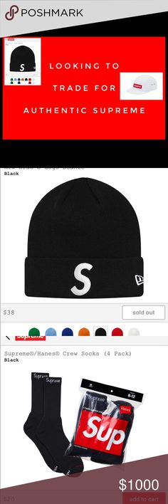18c42bab365 Looking To Trade For Supreme Hats   Accesories Looking To Trade With Honest  Poshers for Supreme