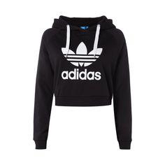 #adidas #Originals #Crop-Hoodie mit #Logo-Print für #Damen - Damen Hoodie von…
