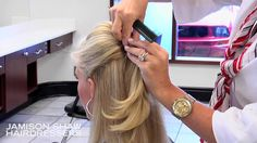 How To: Create a Bang bump and half ponytail hairstyle - Tutorial