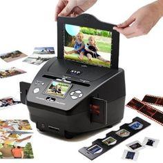 22 Megapixel SVP Black Digital Photo/Negative Films/Slides Scanner with built-in LCD Screen Digital Scanner, Digital Film, Digital Image, Cool Slides, Photo Negative, Presents For Men, Photo Memories, 35mm Film, Name Cards