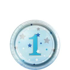 One Little Star Boy Paper Plates - - Birthday Party Supplies (Pack of 1st Birthday Party Supplies, 1st Boy Birthday, 1st Birthday Parties, Birthday Celebration, Party Plates, Dessert Plates, Its A Boy Balloons, Paper Bunting, Silver Paper