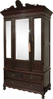 Chinese Chippendale Carved Cabinet