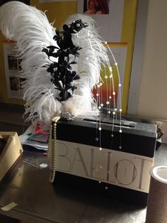 Ballot Box I made for the Great Gatsby Prom- 2014----can use for something else