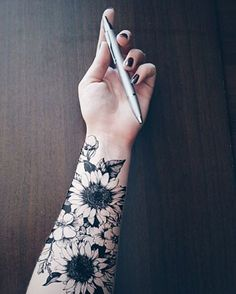 sunflower tattoo on wrist