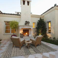 Budget Patio, Indoor Outdoor Area Rugs, Outdoor Decor, Outdoor Flooring, Outdoor Living Areas, Backyard Patio Designs, Patio Ideas, Diy Patio, Garden Ideas