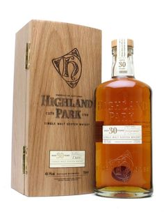 HIGHLAND PARK 30 YEAR OLD. Until the arrival of the 40yo, this was the ne plus ultra of the standard range of proprietary bottlings from Highland Park. A whisky of extraordinary depth and intensity of flavour. #whisky #whiskey £197.00