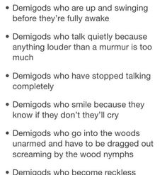 The realities of being a demigod (2/5)