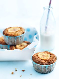 mini banana and choc-chip muffins from donna hay