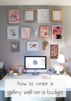 Create your own gallery wall on a budget. | 10 Ways to Redecorate Your Dorm Room for Relatively No Money | www.hercampus.com...