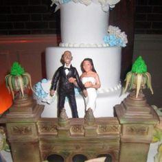 "Carlos Bakery ""Cake Boss"" wedding cake Central Park Boathouse.  March 25, 2012 Andrew & Debbie Botticelli"