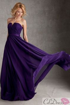 L.O.V.E!!!!!  Everything about this dress I love - I do believe this is the color purple we will be using in our wedding!  Woot!