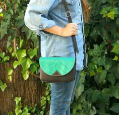 TURQUOISE LEATHER PURSE / Leather bag by Lanhe on Etsy, $52.00