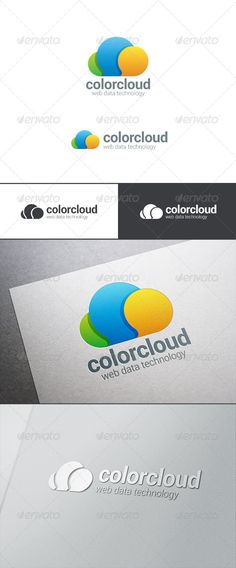 Cloud Computing Logo Bubble Chat - Abstract Logo Templates